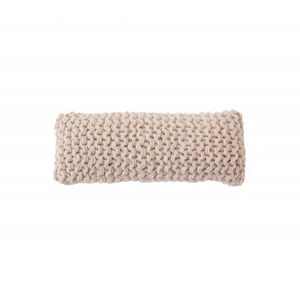 WOOLY CHUNKY knitted cushion - powder pink