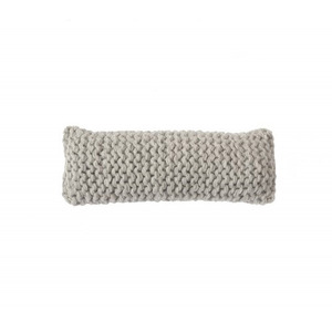 WOOLY CHUNKY knitted cushion - light grey