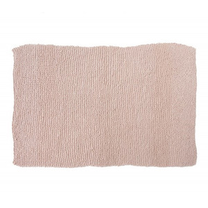 GARTER knitted blanket/bedspread - powder pink