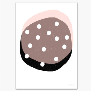 A5 Dotty Circles Pink Postcard