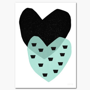 A5 Two Hearts Postcard