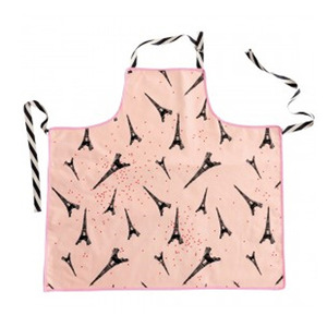 Apron Celestial Eiffel tower pink