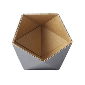 cardboard small basket -grey
