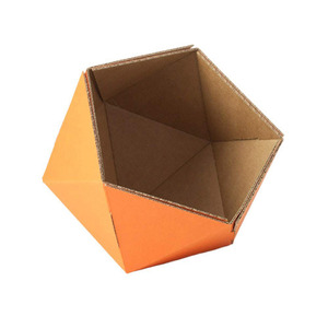 cardboard small basket -orange