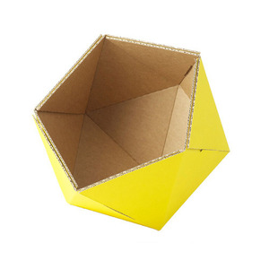cardboard small basket -yellow
