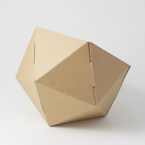 cardboard small basket -natural