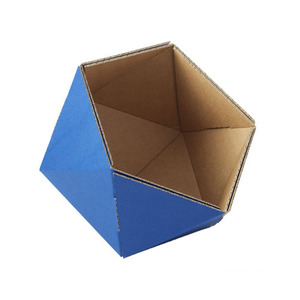 cardboard small basket -blue