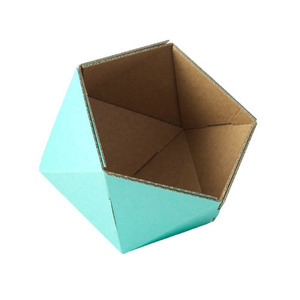 cardboard small basket -light blue