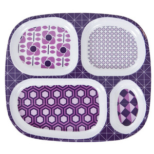 4rooms plate graphic lilac