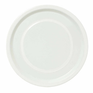 Plate medium 24cm white