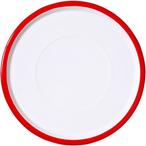 Plate large 28cm red cinnabar