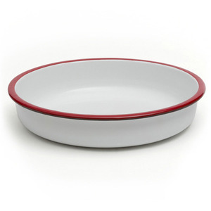 Salad bowl 28cm red cinnabar