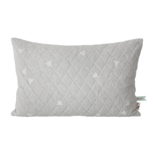 Teepee Quilted Cushion Grey (30% sale)