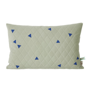 Teepee Quilted Cushion Mint (30% sale)