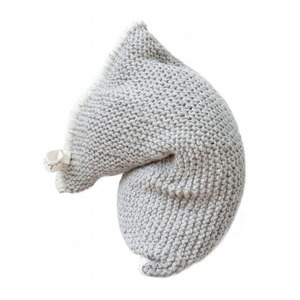 [예약배송]NEST knitted bean bag - light grey