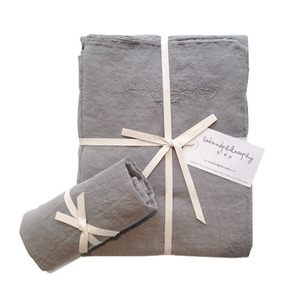 Nolita Duvet Set Single Gris Orage[단추형]