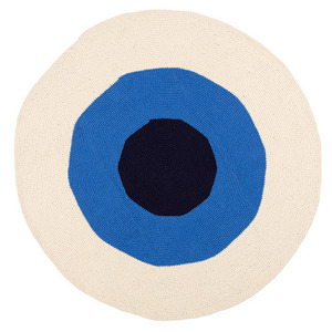Dark & Light Blue Bullseye rug