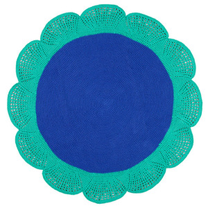 Blue and Green Flower rug