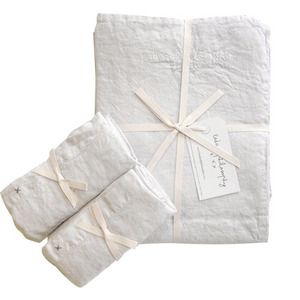 Nolita Duvet Set Queen Blanc[단추형]
