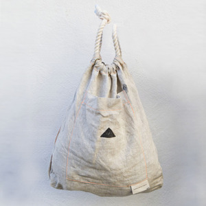 Black Triangle Natural Bag