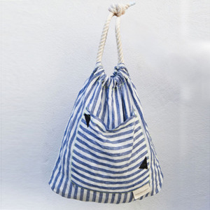 Black Triangle Striped Bag