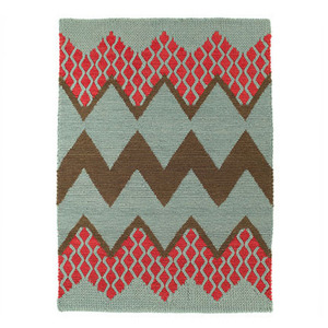 Fairisle rug Mineral Rose Cloud
