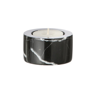 Marble Candleholder Tea light Black
