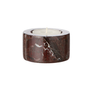 Marble Candleholder Tea light Red