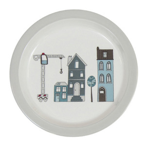 Large Plate Village Boy