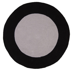 Black Grey Bullseye rug