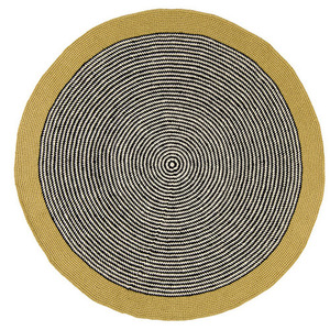 Gold Metallic Stripe Rug