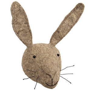 Grey Rabbit Head