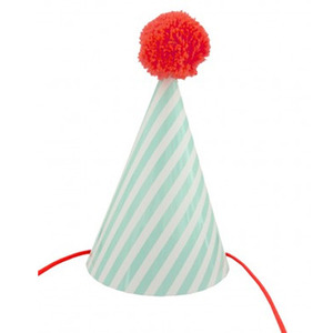 Postcard Party Hat Stripe
