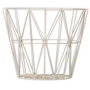 Wire Basket Grey Large