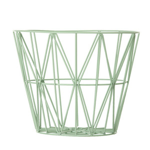 Wire Basket  Mint Medium