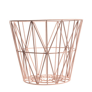 Wire Basket Rose Medium