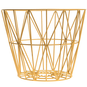 Wire Basket Yellow Large