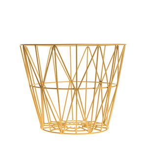 Wire Basket Yellow Small