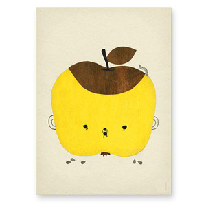 Apple Papple Poster (30% sale)