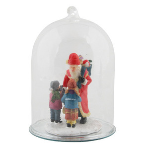 Figures in Glassbell Santa with Children