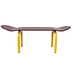 Skateboard Bench Burgundy