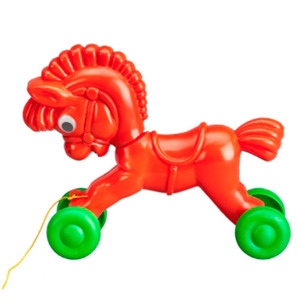 Horse on Wheels Red