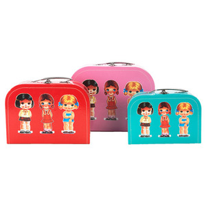 Suitcase Set of 3 - Dress up Girl