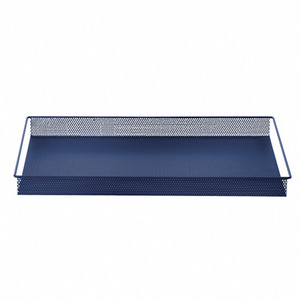 Metal Tray Blue Large
