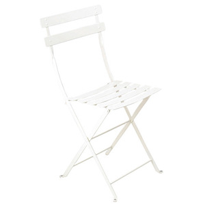 Bistro Metal Chair Cotton White