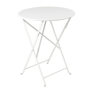 Bistro Round Table 60cm Cotton White