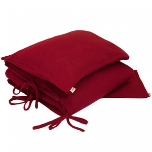 Duvet Cover Set Single Ruby Red