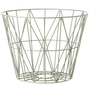 Wire Basket Dusty Green Large