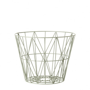 Wire Basket Dusty Green Small