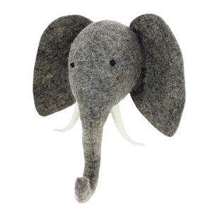 Semi Trunk Up Elephant